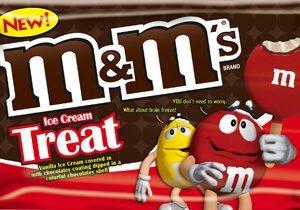 M&M's Brand Ice Cream Treats Line Extension