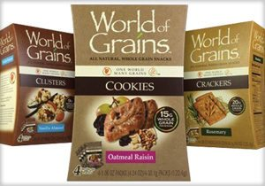 WORLD OF GRAINS Brand Whole-grain Snacks